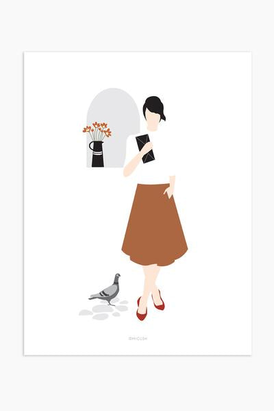 Modern Women Print - Pretty little lady