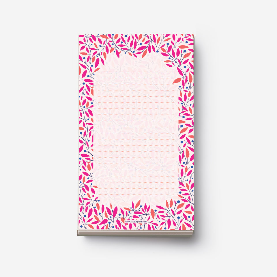 LEAF PATTERN notepad