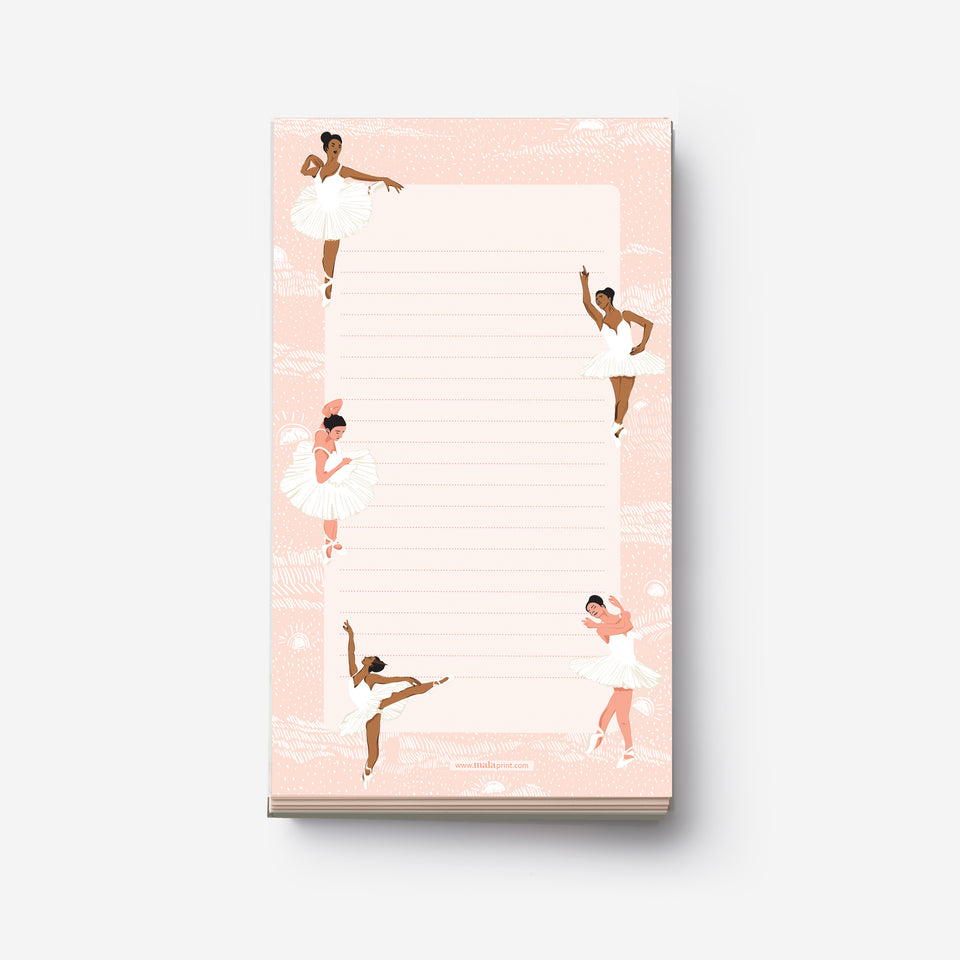BALLET DANCERS notepad