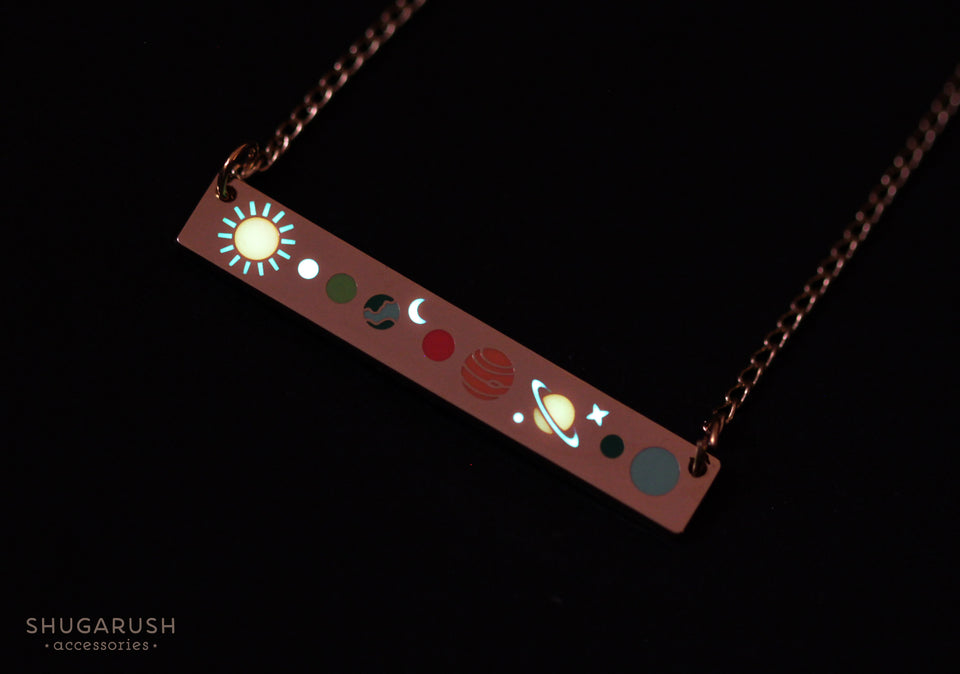 Solar System Bar Necklace