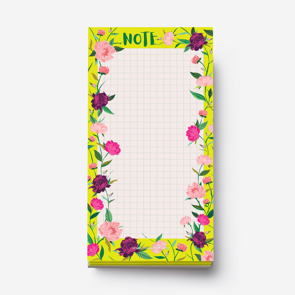 PEONIES FLOWERS notepad