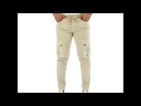Jogger Hippie Slim Fit Urbano Hombre 6320161 Beige