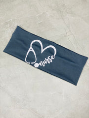Nurse Heart Stethoscope Dry Fit Headband