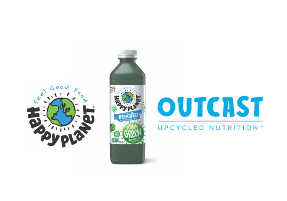 Outcast Upcycled Nutrition Partners with Happy Planet Foods on a mission to combat food waste one smoothie at a time.