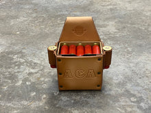 Load image into Gallery viewer, Classic Shotgun Shell Box Holder with 2 Side Spare Round Holders - With Text