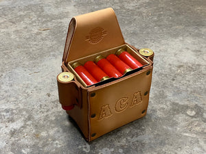 Classic Shotgun Shell Box Holder with 2 Side Spare Round Holders - With Text