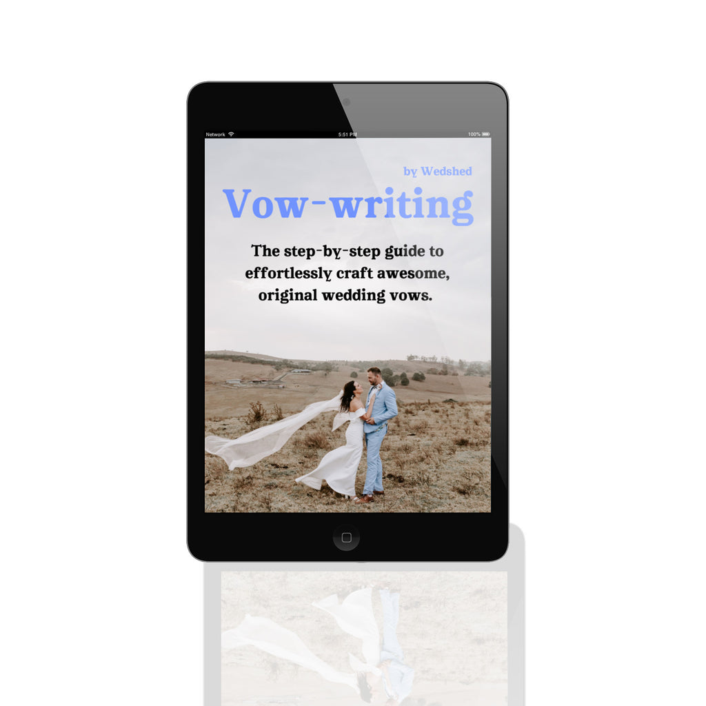 Wedshed eGuide: The Vow-Writing Guide