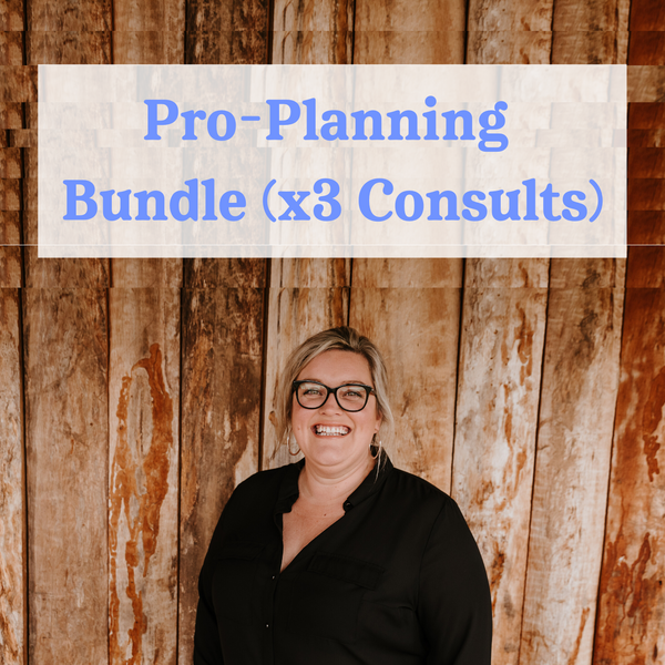 Pro-planning Bundle (x3 Virtual Planning Consults)