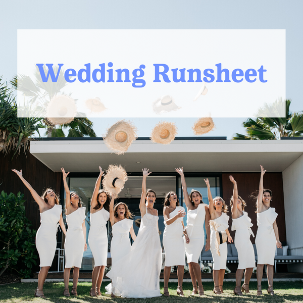 Wedshed's Wedding Run-Sheet