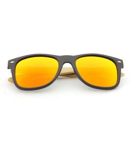 Orange Bamboo Polarized Sunglass