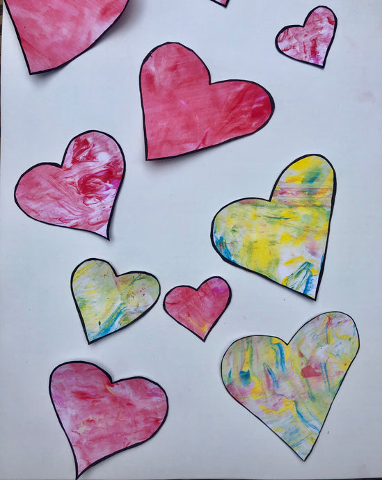 Valentines Day 'Sensory Hearts' Craft