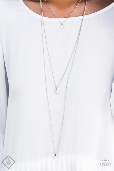Paparazzi Accessories Crystal Chic - White Necklace Fashion Fix June 2019 Fiercely 5th Avenue - Mel's Pretty It Up Boutique