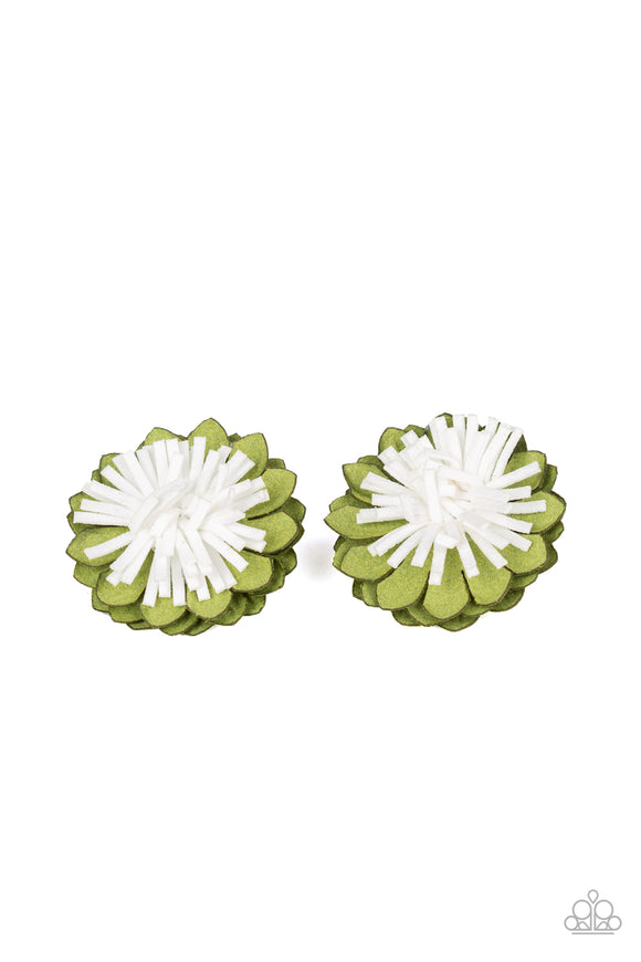 Paparazzi Accessories Blooming Bliss - Green Hair Accessories - Mel's Pretty It Up Boutique