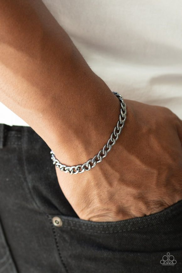 Paparazzi Accessories Halftime - Black Men's Bracelet - Mel's Pretty It Up Boutique