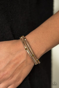 Paparazzi Accessories Drop A SHINE - Copper Snap/Wrap Bracelet - Mel's Pretty It Up Boutique