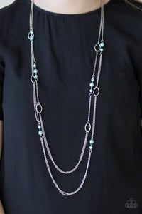 Paparazzi Accessories The New Girl In Town - Blue Necklace - Mel's Pretty It Up Boutique