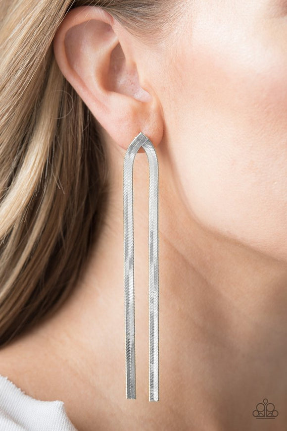 Paparazzi Accessories Very Viper - Silver Earring 2019 Encore Exclusive - Mel's Pretty It Up Boutique