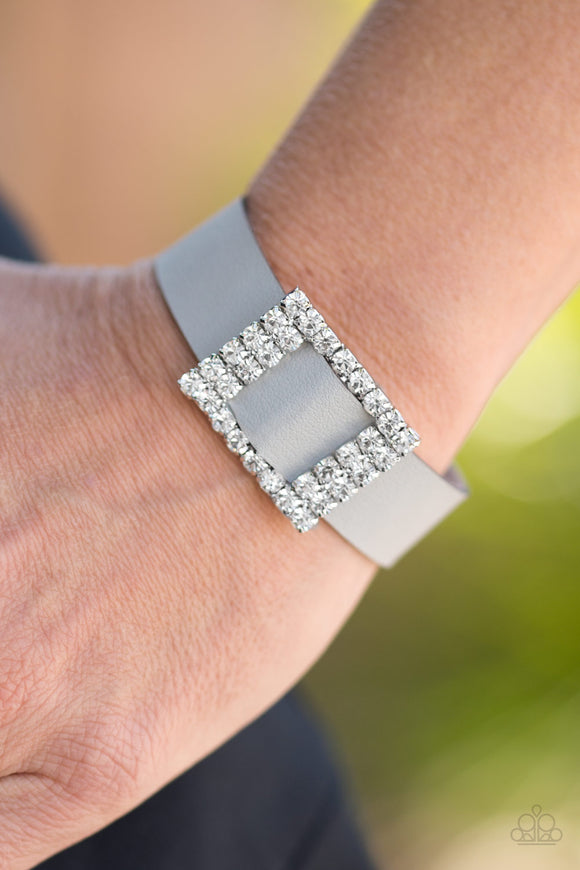 Paparazzi Accessories Diamond Diva - Silver Snap/Wrap Bracelet - Mel's Pretty It Up Boutique