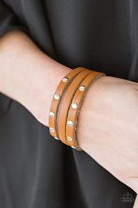 Paparazzi Accessories Radical Raider - Brown Snap/Wrap Bracelet - Mel's Pretty It Up Boutique