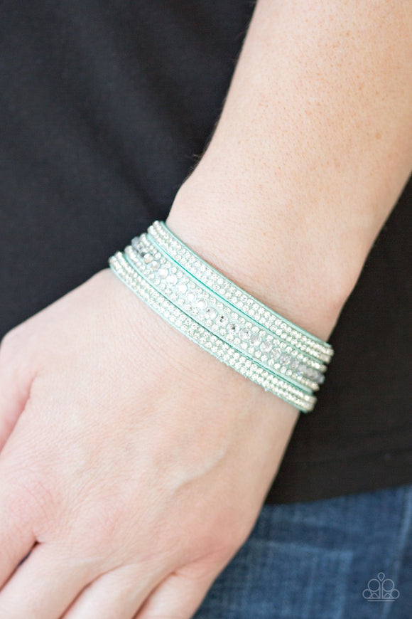 Paparazzi Accessories Harlem Hustle - Green Snap/Wrap Bracelet - Mel's Pretty It Up Boutique