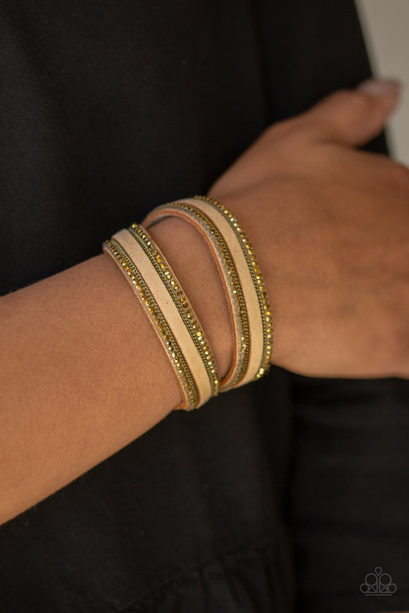 Paparazzi Accessories Going For Glam - Brass Snap/Wrap Bracelet - Mel's Pretty It Up Boutique