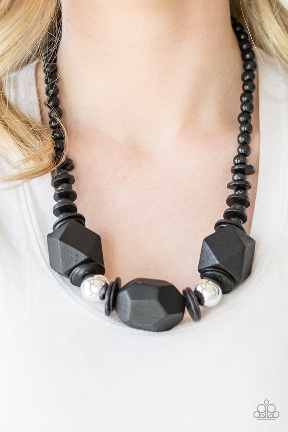 Paparazzi Accessories Costa Maya Majesty - Black Necklace - Mel's Pretty It Up Boutique