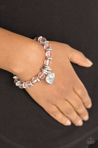 Paparazzi Accessories Need I say AMOUR? - Pink Bracelet - Mel's Pretty It Up Boutique
