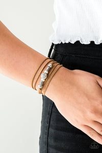 Paparazzi Accessories Find Your Way - White Urban Bracelet - Mel's Pretty It Up Boutique