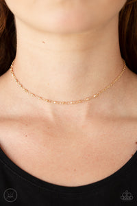 Paparazzi Accessories Take A Risk - Gold Necklace - Mel's Pretty It Up Boutique