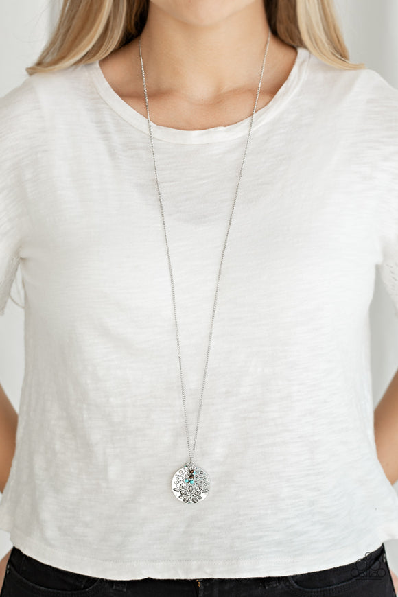 Paparazzi Accessories Desert Abundance - Blue Necklace - Mel's Pretty It Up Boutique