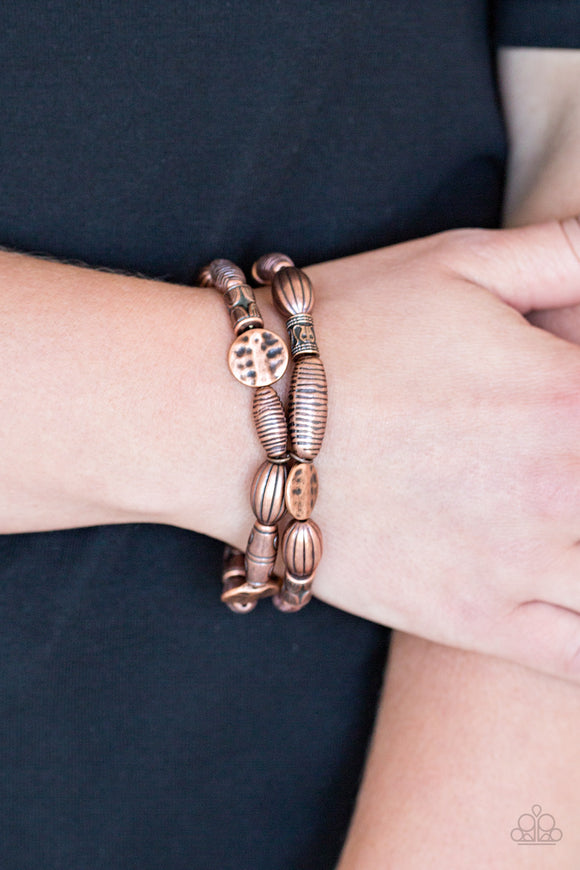 Paparazzi Accessories The Spice of WILDLIFE - Copper Bracelet - Mel's Pretty It Up Boutique