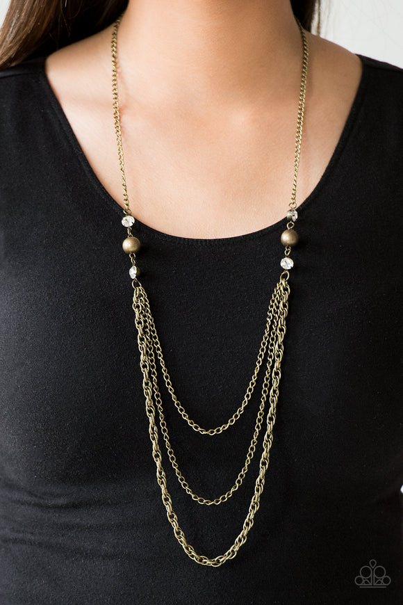 Paparazzi Accessories RITZ It All - Brass Necklace - Mel's Pretty It Up Boutique