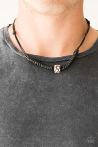 Paparazzi Accessories Pacific Pioneer - Black Urban Necklace - Mel's Pretty It Up Boutique