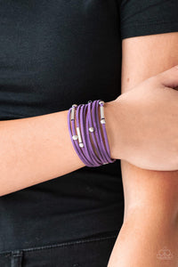 Paparazzi Accessories Back To BACKPACKER - Purple Urban Bracelet - Mel's Pretty It Up Boutique