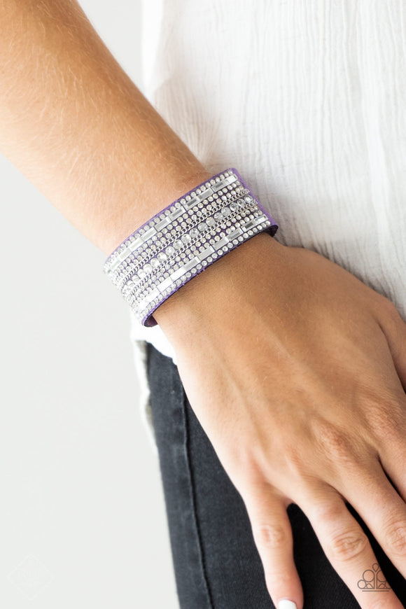 Paparazzi Accessories Rebel Radiance - Purple Snap/Wrap Bracelet - Mel's Pretty It Up Boutique