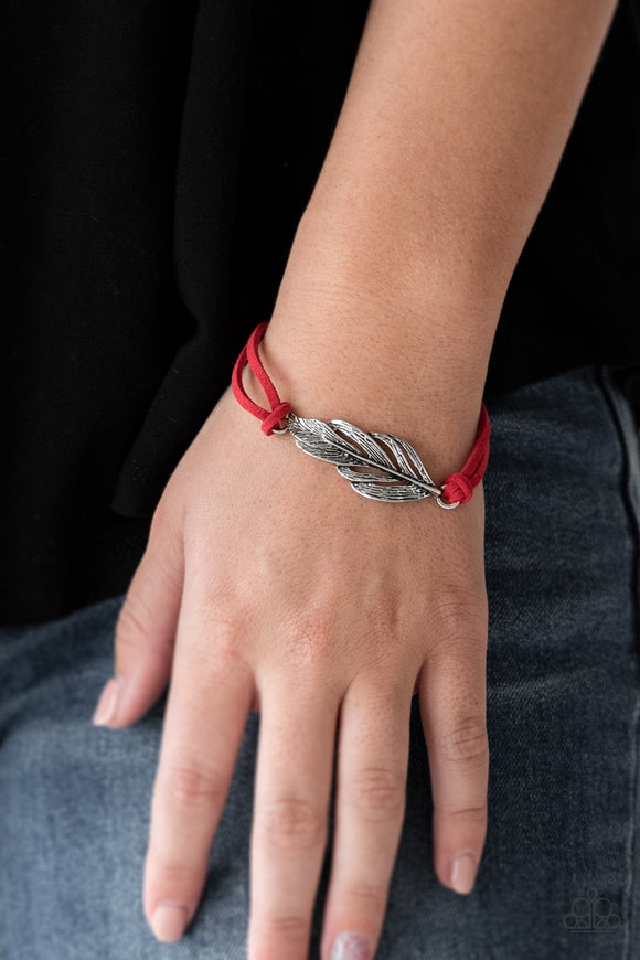 Paparazzi Accessories Faster Than FLIGHT - Red Urban Bracelet - Mel's Pretty It Up Boutique