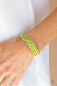 Paparazzi Accessories Life is WANDER-ful - Green Snap/Wrap Bracelet