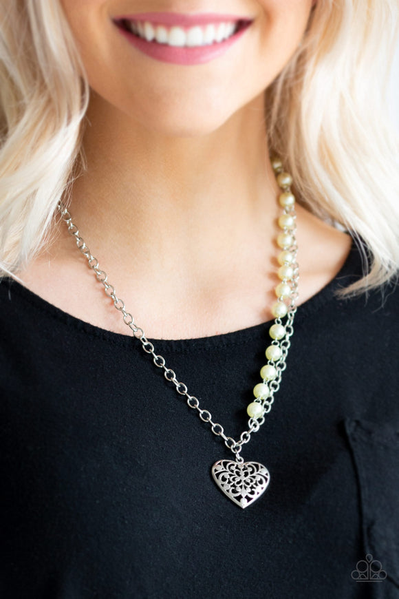 Paparazzi Accessories Forever In My Heart - Yellow Necklace - Mel's Pretty It Up Boutique