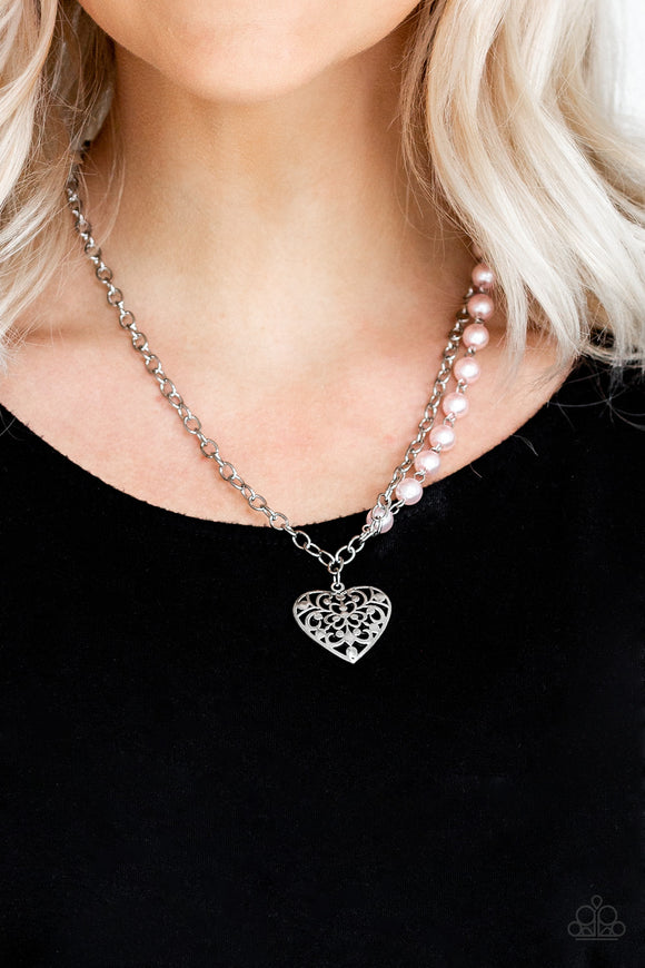 Paparazzi Accessories Forever In My Heart - Pink Necklace - Mel's Pretty It Up Boutique