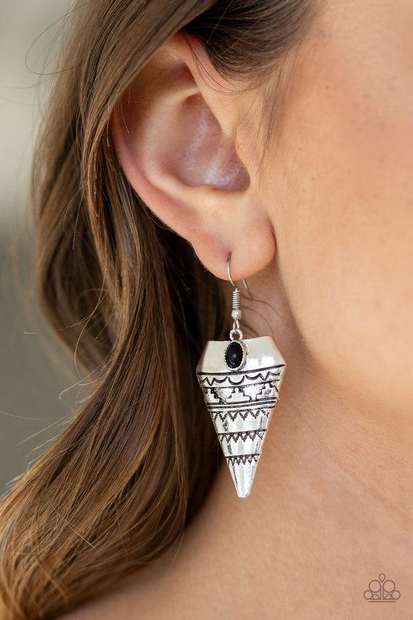 Paparazzi Accessories Jurassic Journey - Black Earring - Mel's Pretty It Up Boutique