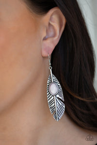 Paparazzi Accessories Quill Thrill - Silver Earrings - Mel's Pretty It Up Boutique
