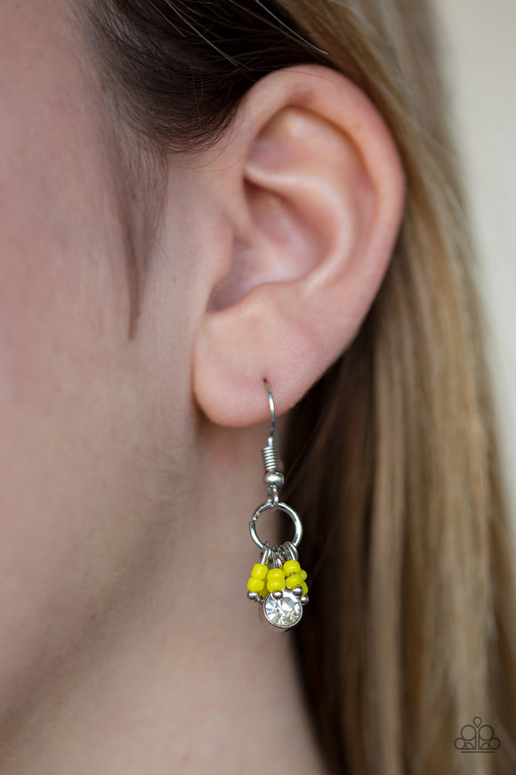 Paparazzi Accessories Twinkling Trinkets - Yellow Earring - Mel's Pretty It Up Boutique
