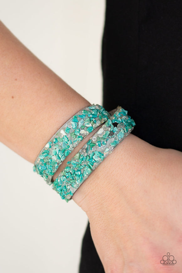 Paparazzi Accessories CRUSH To Conclusions - Green Snap/Wrap Bracelet - Mel's Pretty It Up Boutique