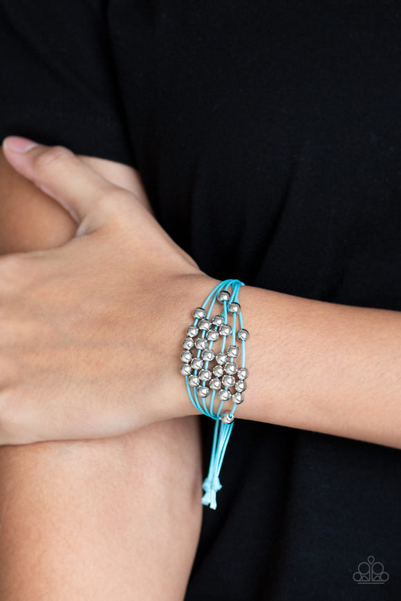Paparazzi Accessories Without Skipping A BEAD - Blue Urban Bracelet - Mel's Pretty It Up Boutique