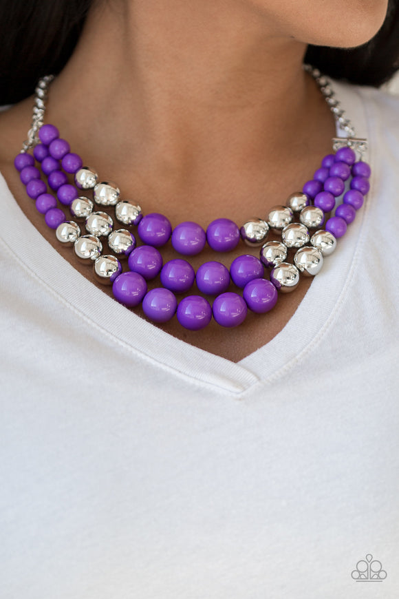 Paparazzi Accessories Dream Pop - Purple Necklace April 2019 Life Of The Party Exclusive - Mel's Pretty It Up Boutique