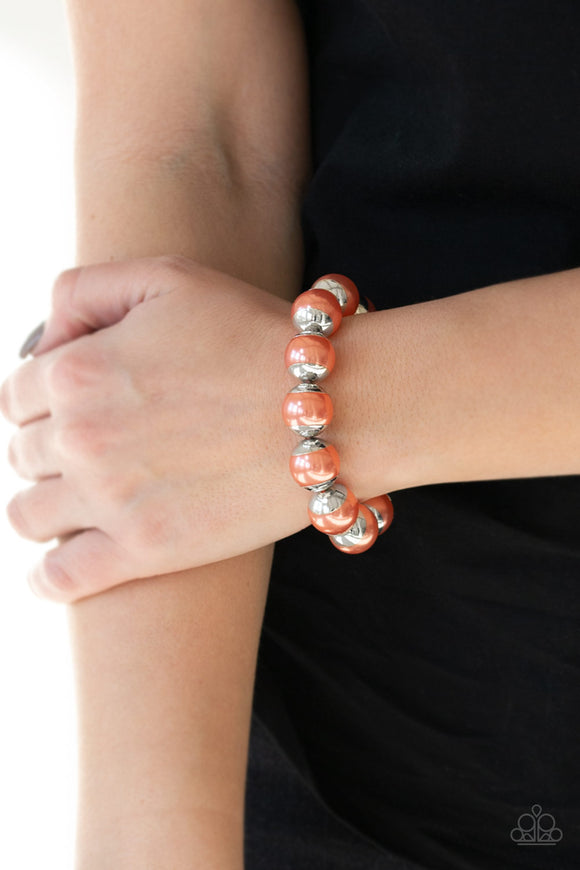 Paparazzi Accessories One Woman Show-STOPPER - Orange Bracelet - Mel's Pretty It Up Boutique