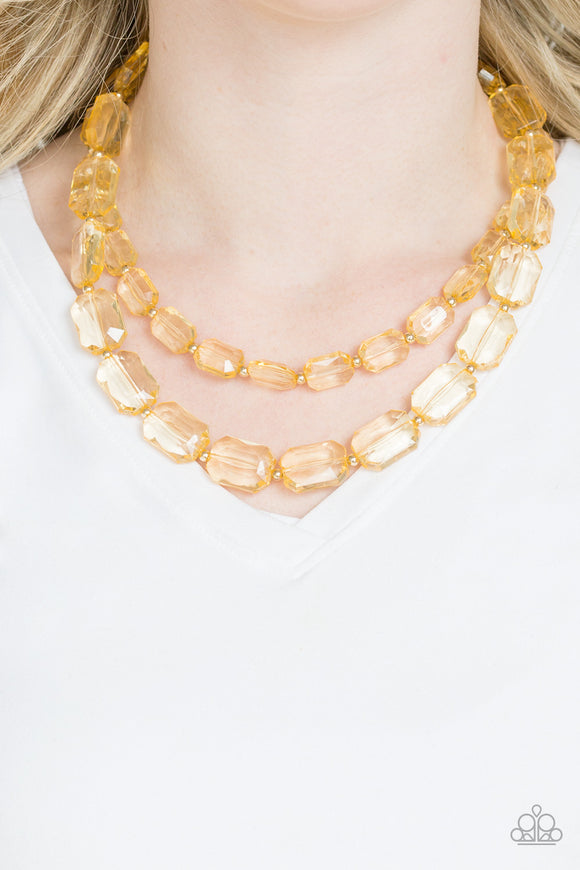 Paparazzi Accessories Ice Bank - Gold Necklace - Mel's Pretty It Up Boutique
