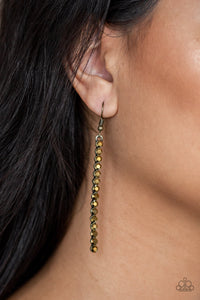 Paparazzi Accessories Grunge Meets Glamour - Brass Earring - Mel's Pretty It Up Boutique