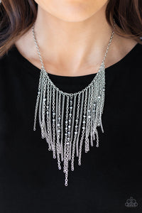Paparazzi Accessories First Class Fringe - Silver Necklace May 2019 Life Of The Party Exclusive - Mel's Pretty It Up Boutique