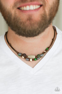 Paparazzi Accessories Tiki Trek - Green Urban Necklace - Mel's Pretty It Up Boutique